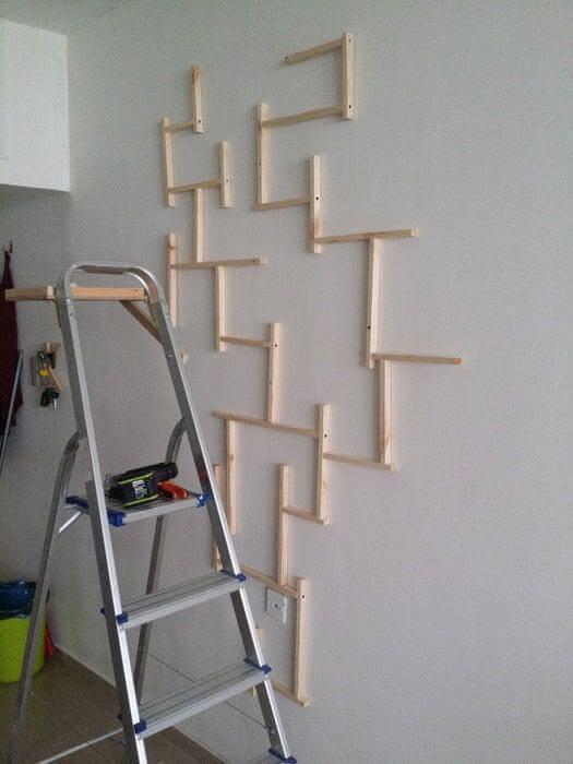 20. DIY Abstract Wood Wall Art