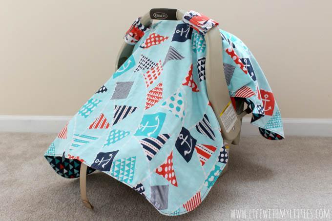 20. DIY Car Seat Cover Tutorial