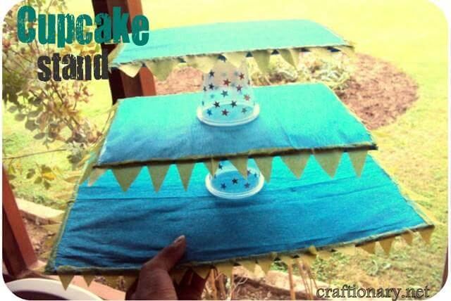 20. DIY Cardboard Cupcake Tower