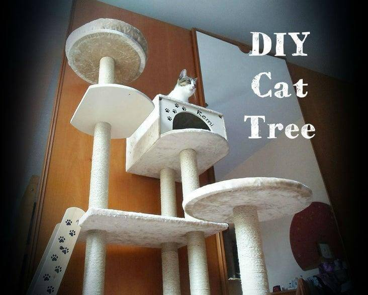20. DIY Cat Tree House