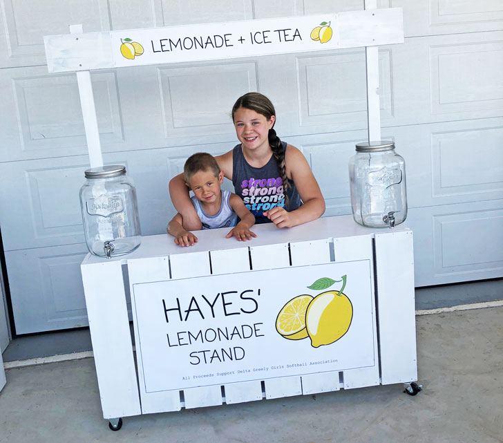 20. DIY Fence Picket Lemonade Stand