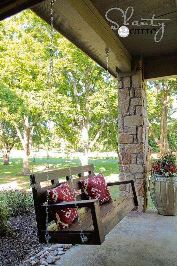 20. DIY Porch Swing