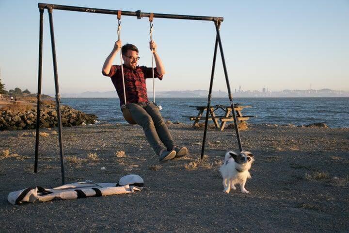 20. DIY Portable Swing Set