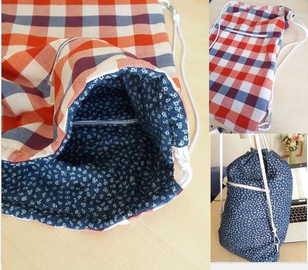 20. DIY Reversible Drawstring Bag