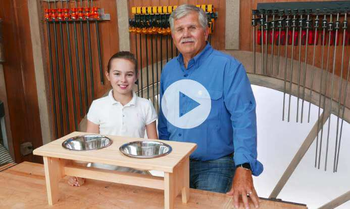 20. How To Build A Dog Bowl Stand