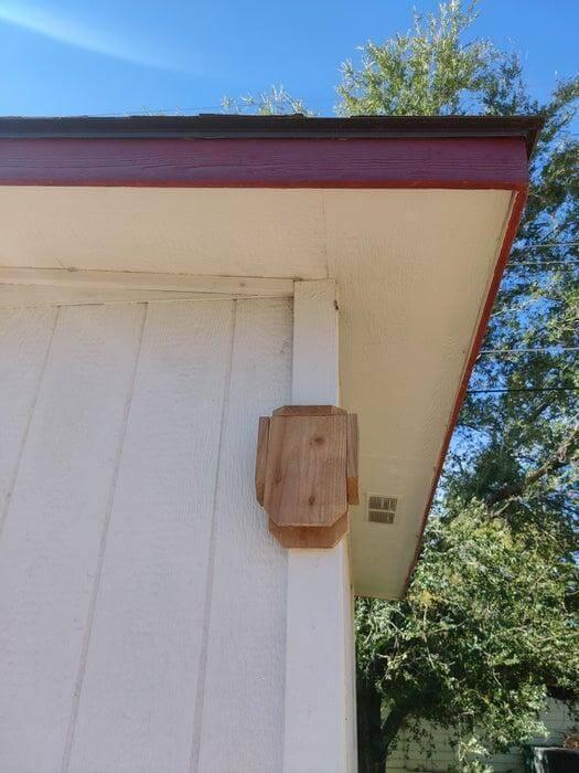 21. DIY Cedar Fence Bat House