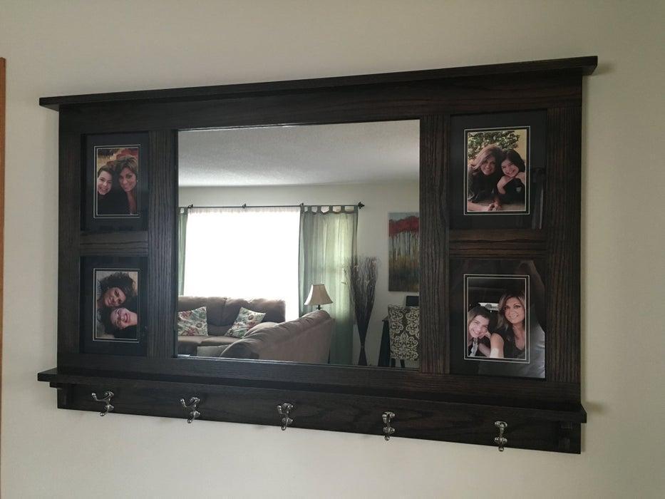 21. DIY Mirror Photo Frame