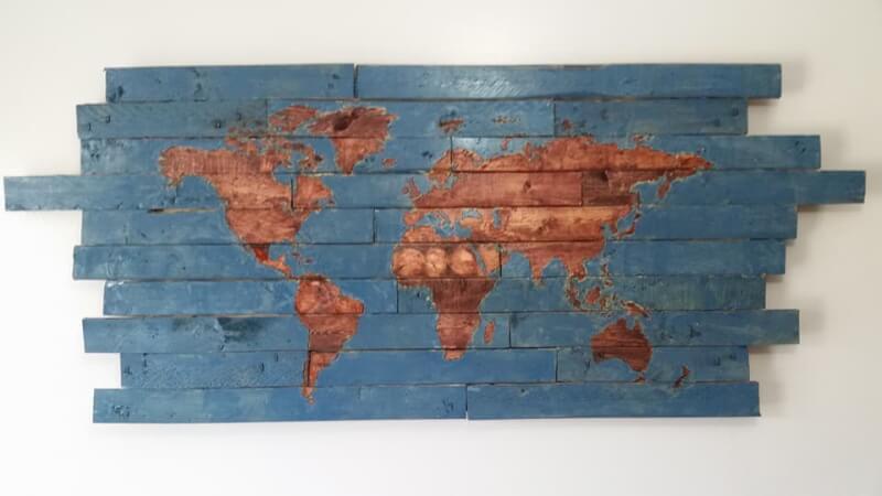 21. DIY Reclaimed Wood Wall Art