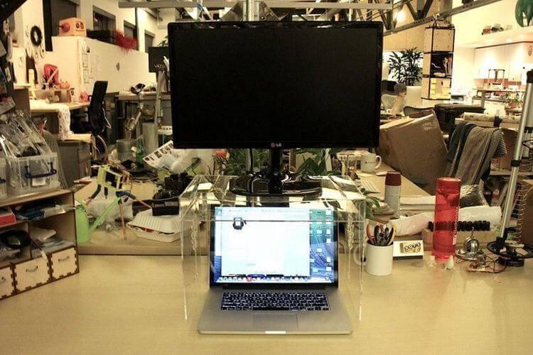 21. DIY Space-Saving Monitor Stand