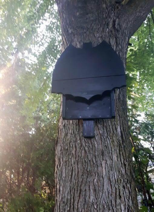 22. Batman Logo Bat Box House