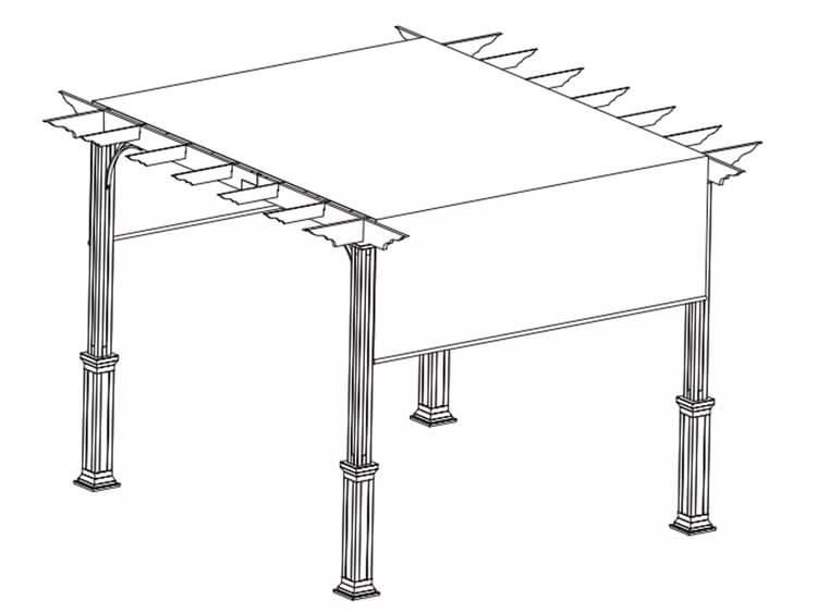 22. DIY Pergola Plan With Canopy