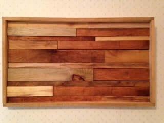 22. DIY Wood Slat Wall Art
