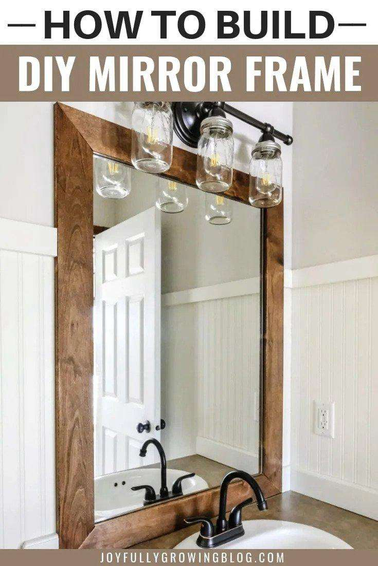 22. How To Add Wooden Frame To Bathroom Mirror