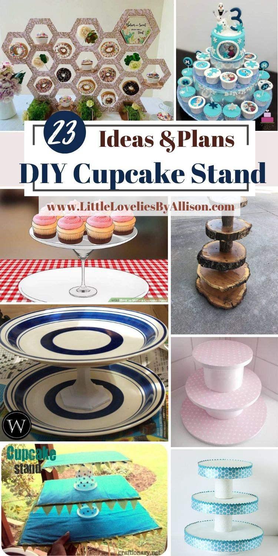 23 DIY Cupcake Stand_ How To Make A Cupcake Tower