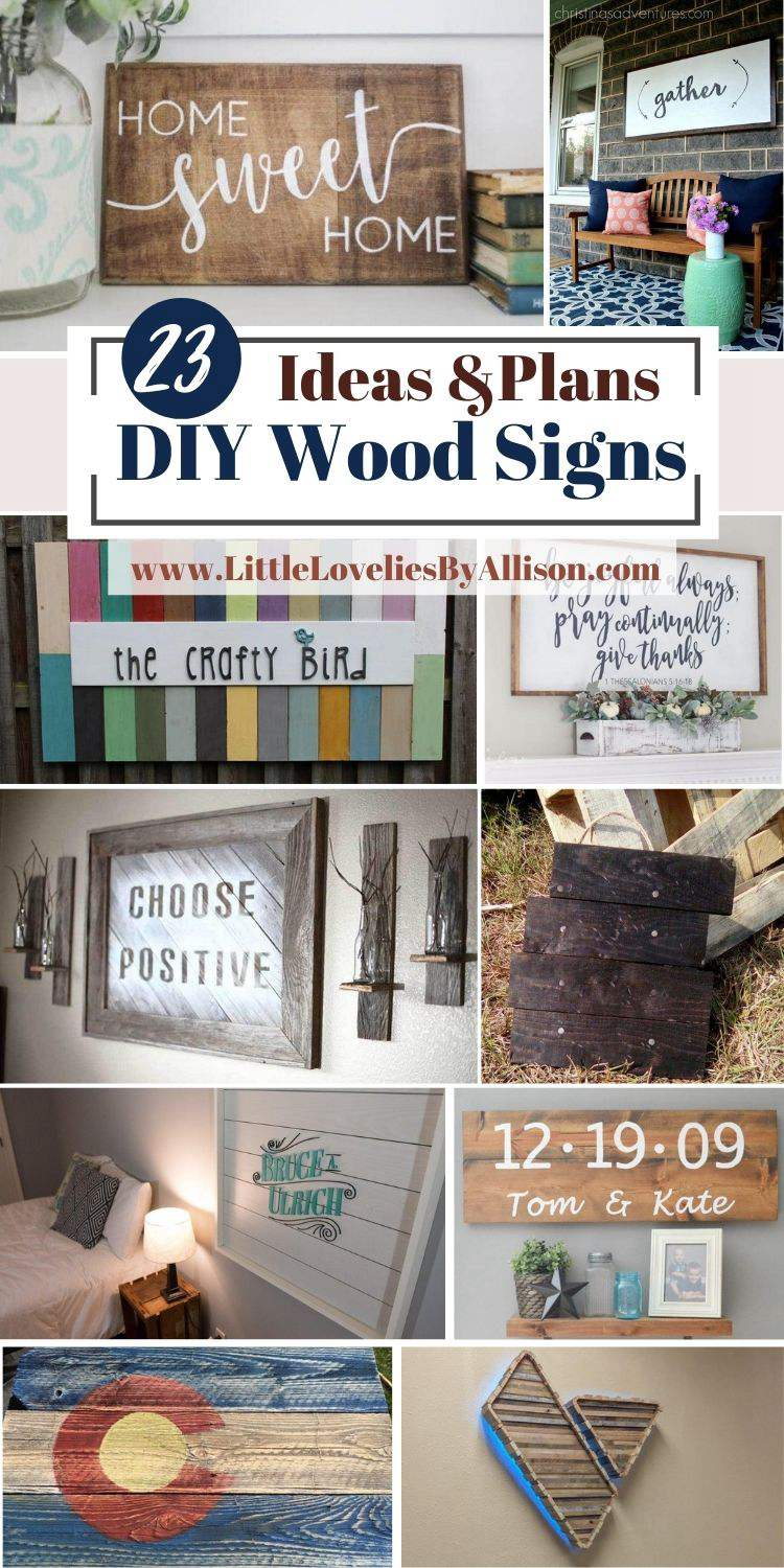 23 Small _ Large DIY Wood Signs You Can DIY Easily