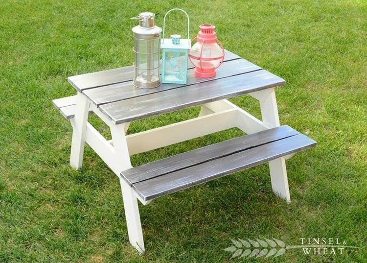 23. DIY Children's Picnic Table