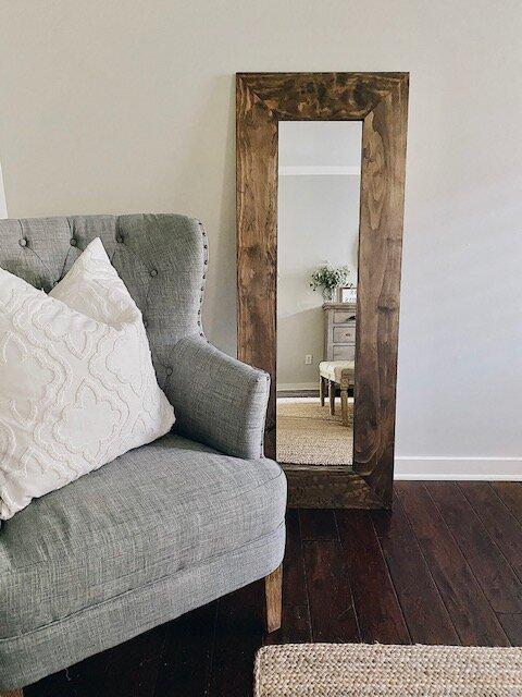 23. DIY Farmhouse Wood Framed Mirror