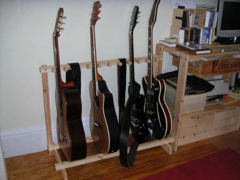 23. DIY Multiple Guitar Stand