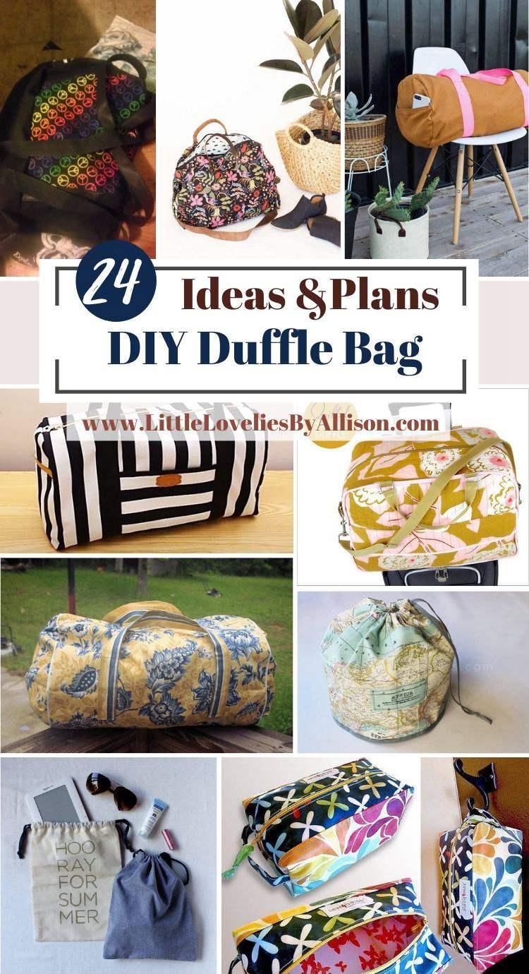 24 DIY Duffle Bag Ideas_ How To Sew A Travel Bag