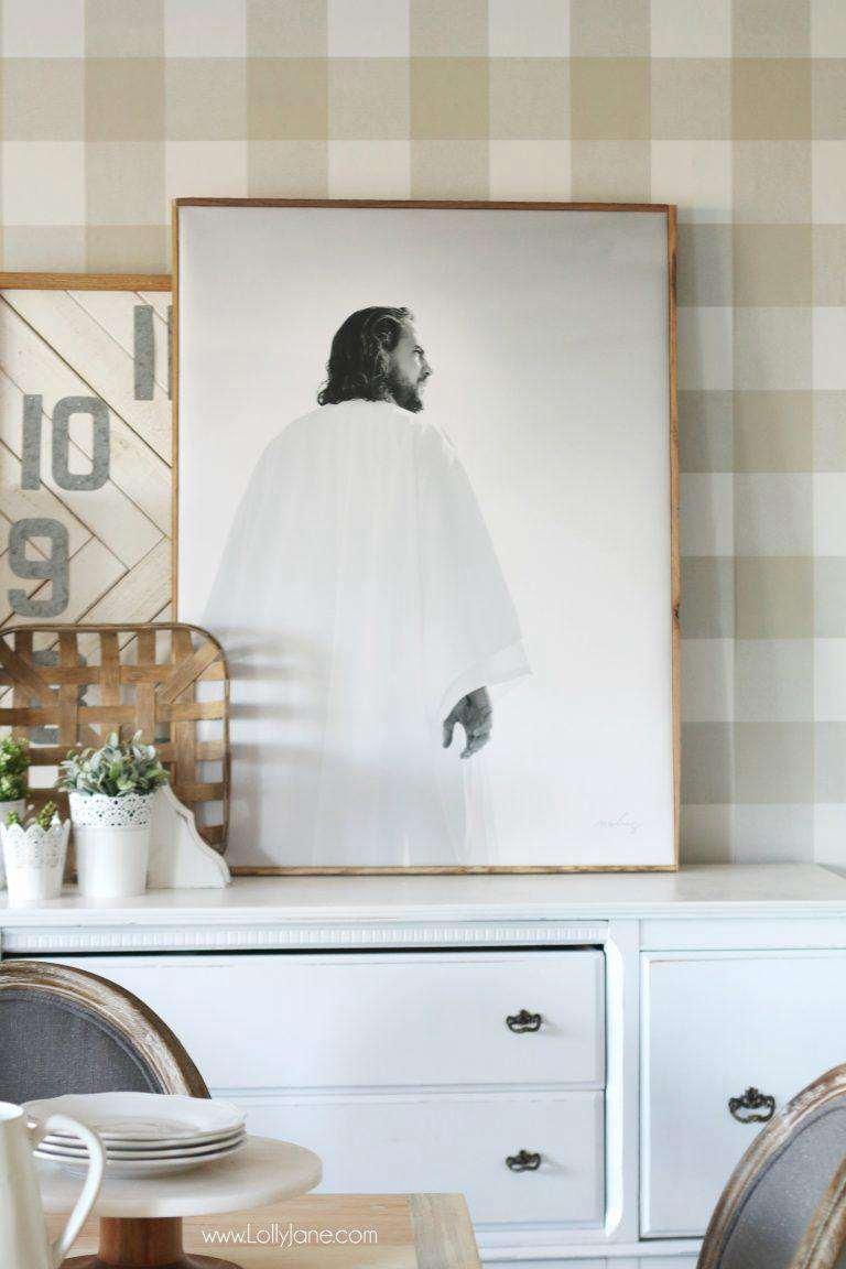 24. DIY Framed Canvas
