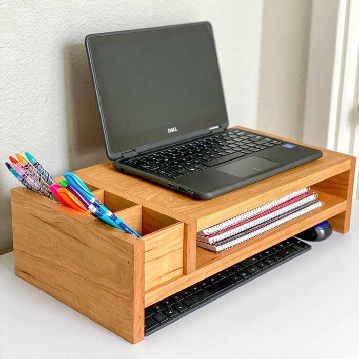 24. DIY Laptop Or Monitor Stand