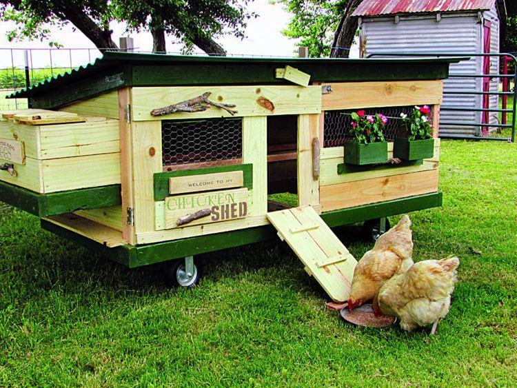 24. DIY Mobile Chicken Tractor Plan