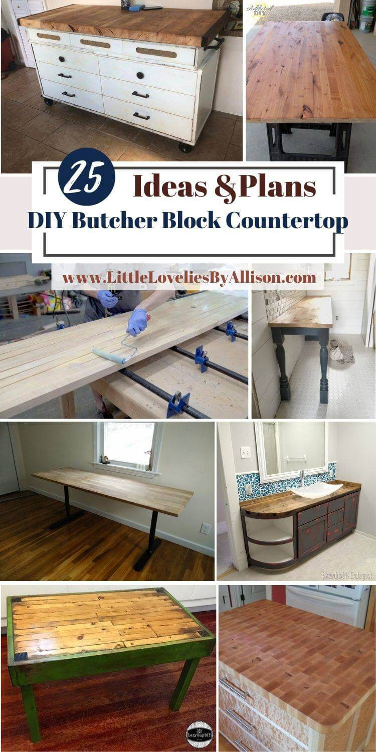 25 DIY Butcher Block Countertop Projects_ Do It Yourself From Home