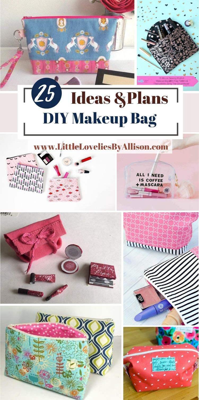 25 DIY Makeup Bag Ideas_ Handmade Makeup Bag Projects