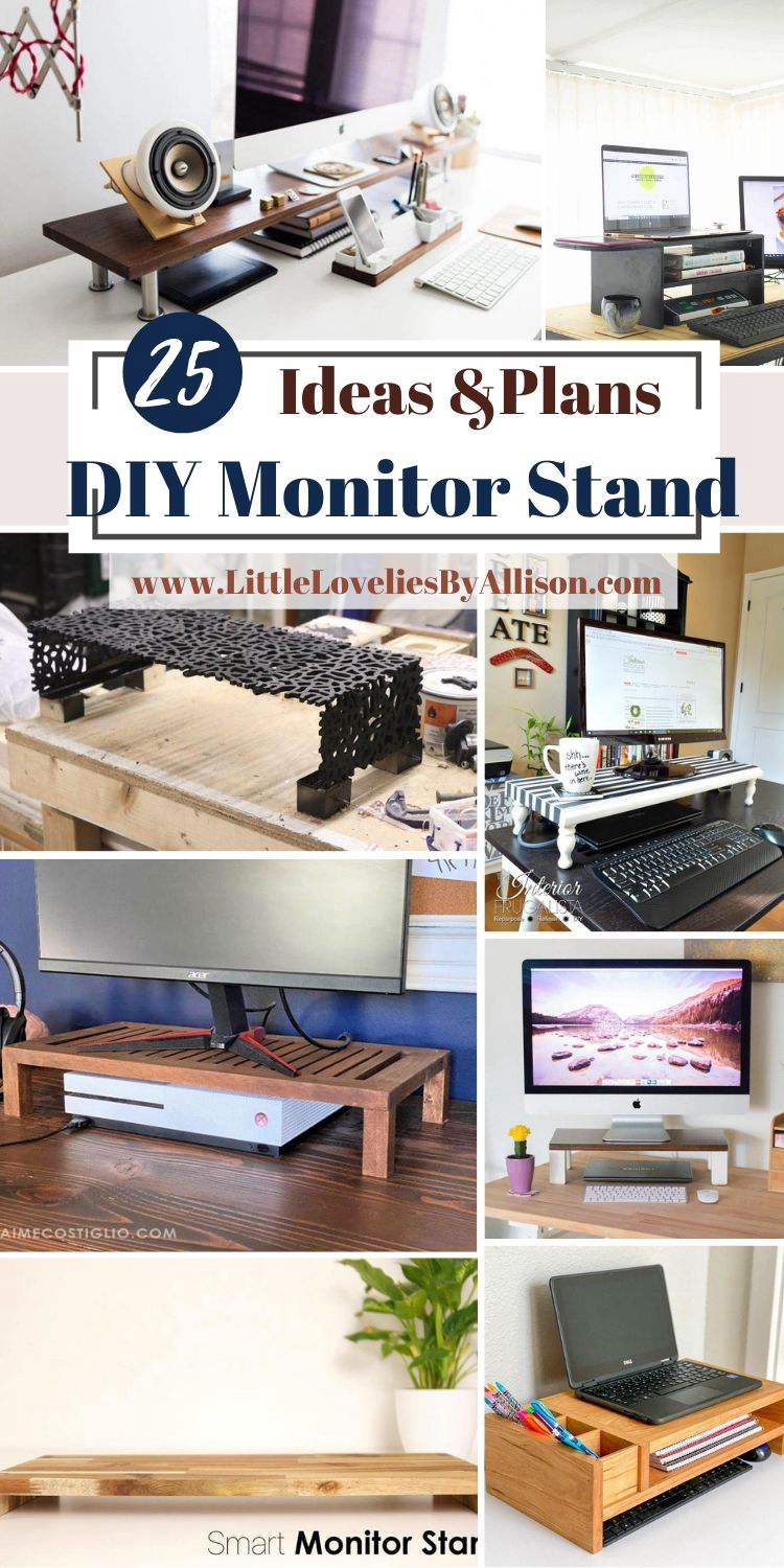 25 DIY Monitor Stand Projects_ How To Build A Monitor Stand