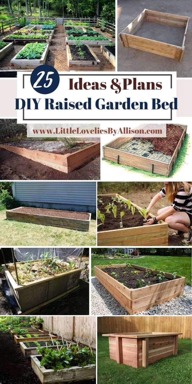 25 DIY Raised Garden Bed Plans For Better Crop Growth