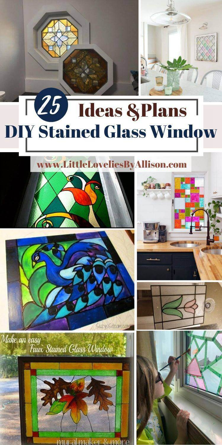 25 DIY Stained Glass Window Ideas_ Do It Yourself Easily