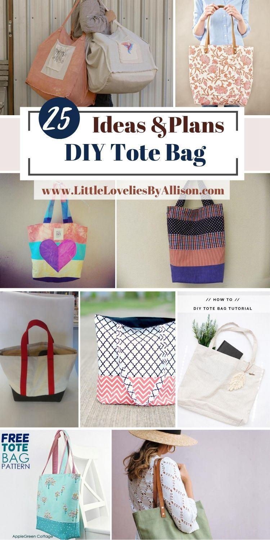 25 DIY Tote Bag Ideas_ How To Make A Market Bag