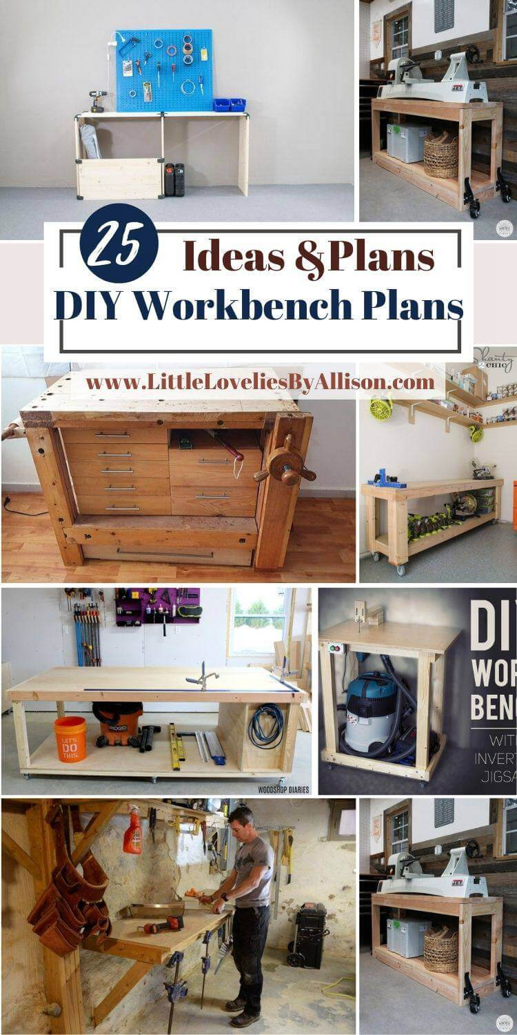 25 DIY Workbench Plans_ How To Build A Workbench