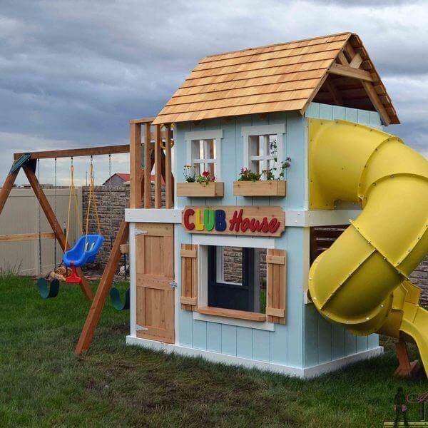 3. DIY Clubhouse Playset