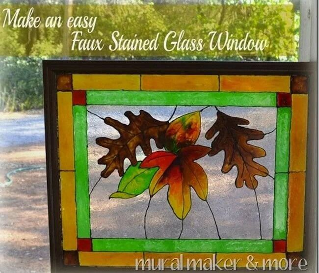 3. DIY Faux Stained Glass Window