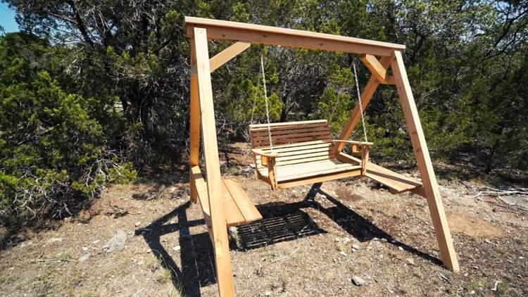 3. DIY Porch Swing Frame