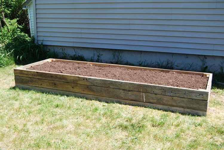 3. DIY Reclaimed Wood Raised Bed Garden