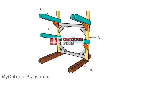 3. Kayak Rack Plans DIY