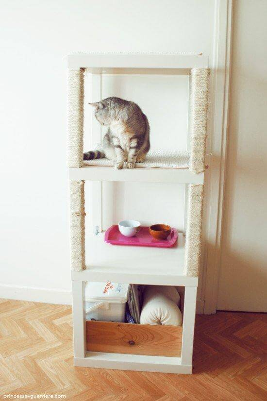 4. DIY Cat Tree With IKEA Hack