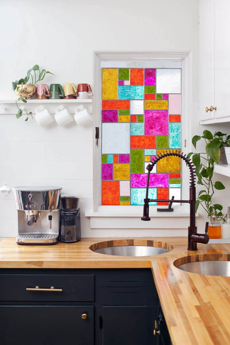 4. DIY Stained Glass Window
