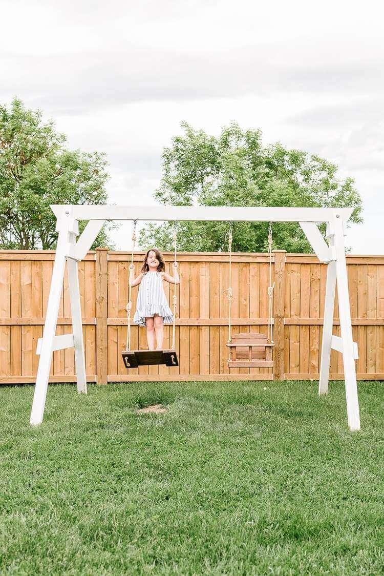 4. Wooden Swing Set Plans DIY