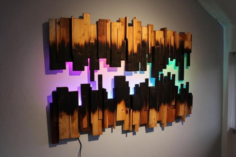5. DIY Burned Wood Wall Art