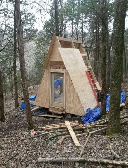 5. DIY Convertible A-Frame Cabin