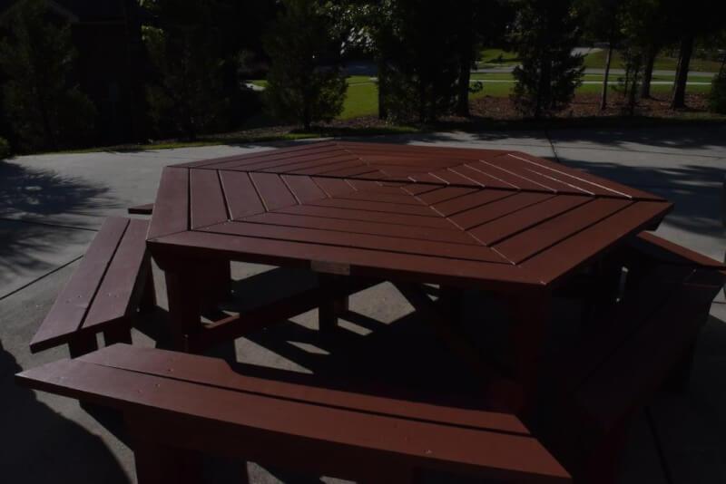 5. DIY Hexagonal Picnic Table