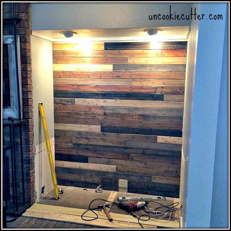 5. DIY Mixed Wood Wall