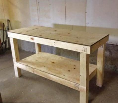 6. DIY Garage Workshop Workbench