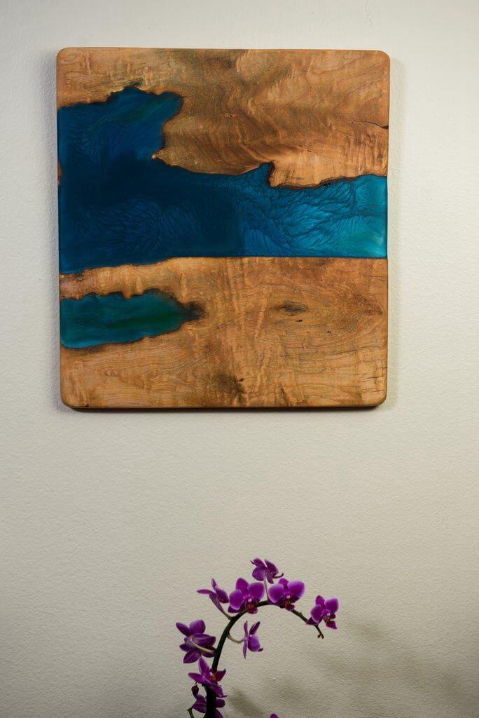 6. DIY Wood And Resin Wall Art