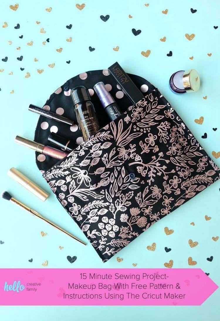 6. Makeup Bag Sewing Pattern DIY