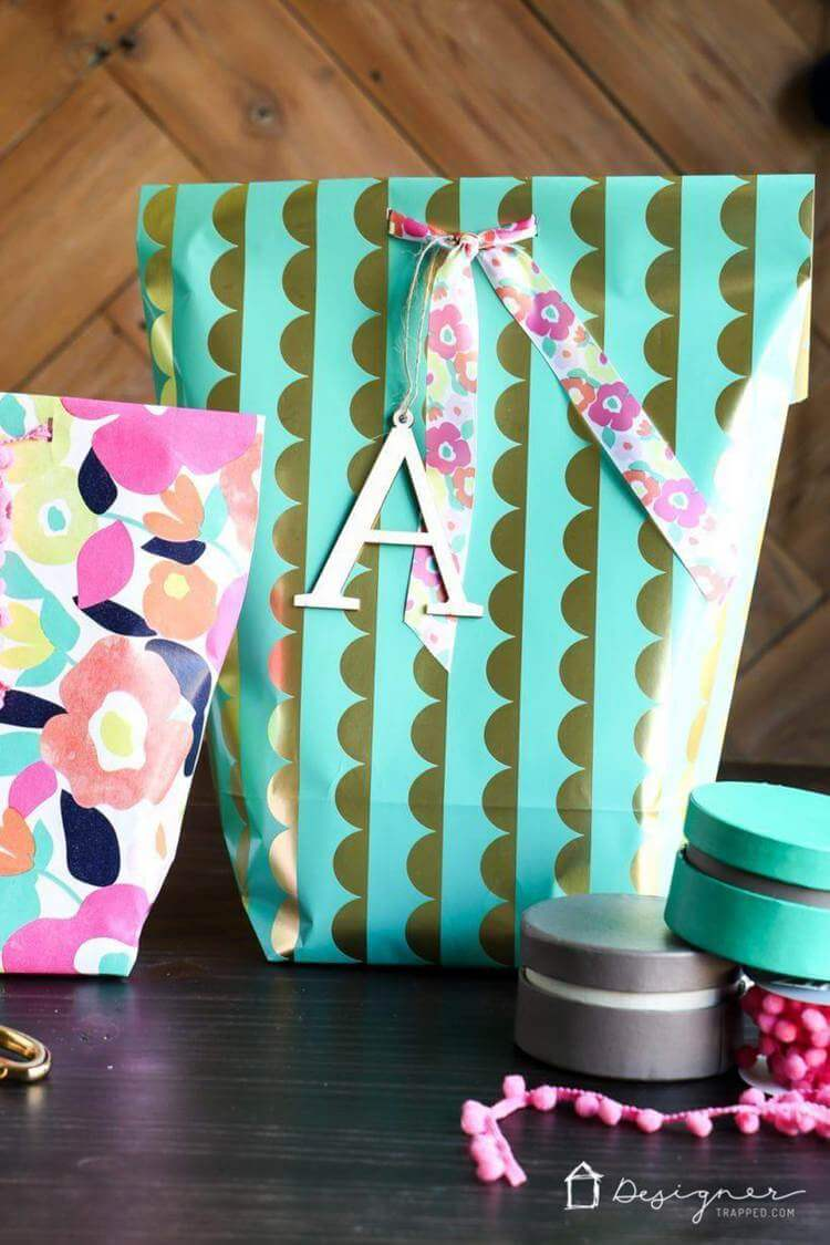 7. DIY Gift Bag From Wrapping Paper