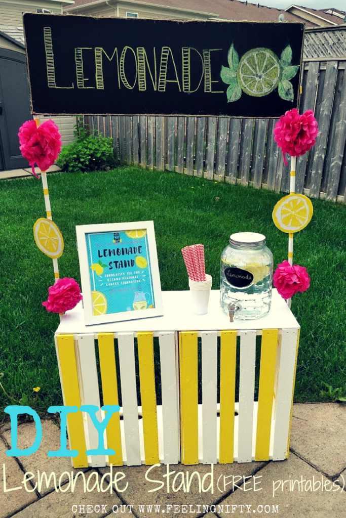 7. DIY Lemonade Stand